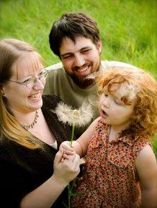 The Smith Family:  Damon, Tobi-Dawne, and Lily-Ann