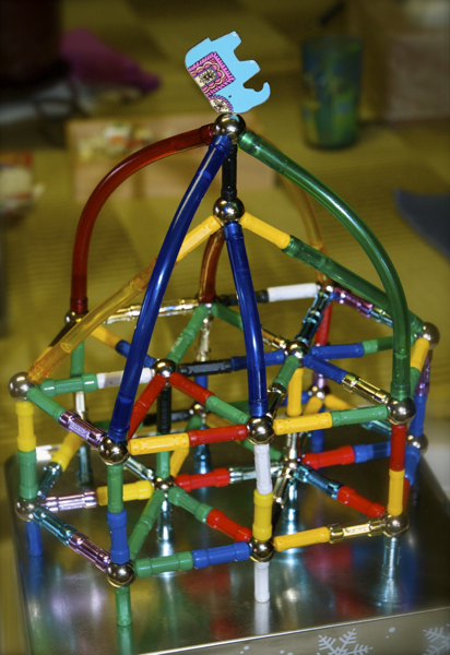 a Magnetix tower