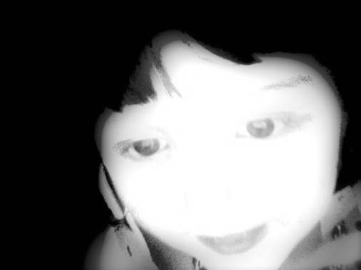 ghost girl, photo booth capture