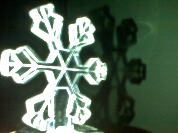 high contrast snow flake ornament