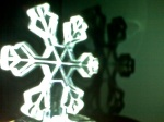 snowflake photograph, high contrast, small