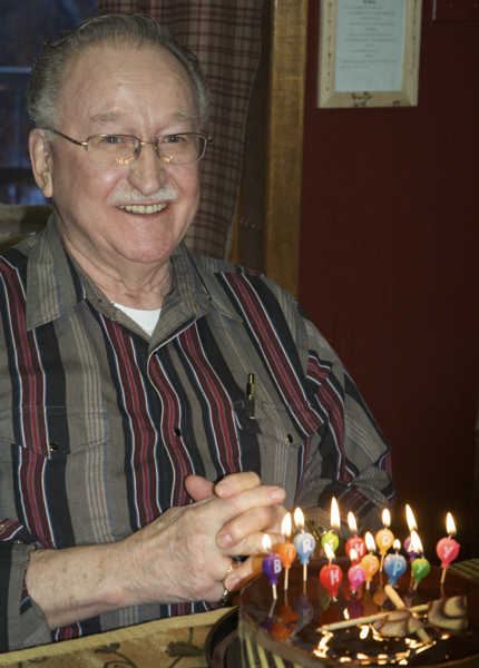 Grandpa and his birthday cake