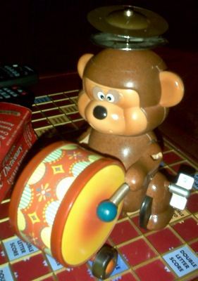 wind up monkey toy