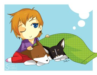 Thora, Roo and I...  chibified