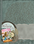Journal Your Journey, scrapbooking LO for January.