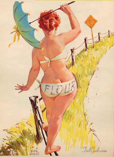 Hilda, the world's most awesome pin-up woman.
