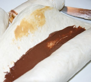 a little smear of peanut butter will help seal the wrap