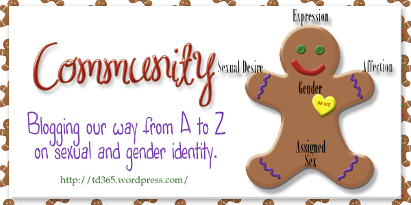blogging our way from A to Z on sexual and gender identity - community