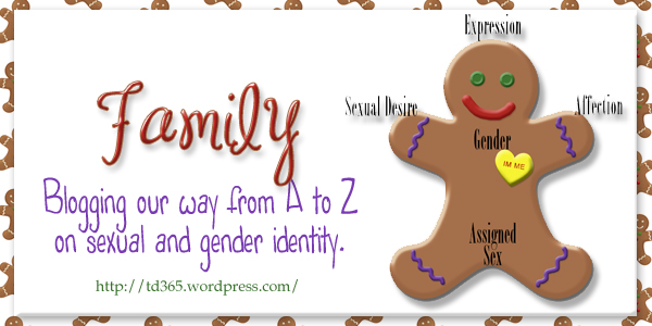 Blogging our way from A to Z on sexual and gender identity - Family