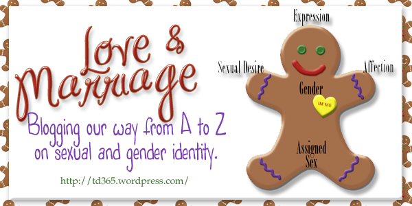 Blogging our way from A to Z on sexual and gender identity