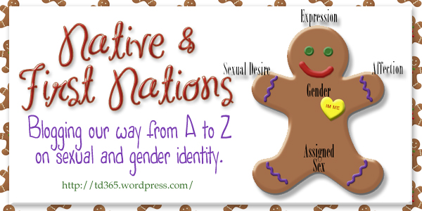 Blogging our way from A to Z on sexual and gender identity - Native and First Nations Individuals in the LGBTT2AIA Community
