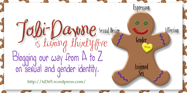 Blogging our way from A to Z on sexual and gender identity - Tobi-Dawne is Turning Thirtyfive