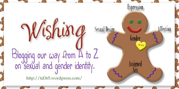 blogging our way from A to Z on sexual and gender identity - wishing