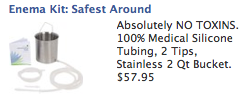 facebook ad for a home enema kit