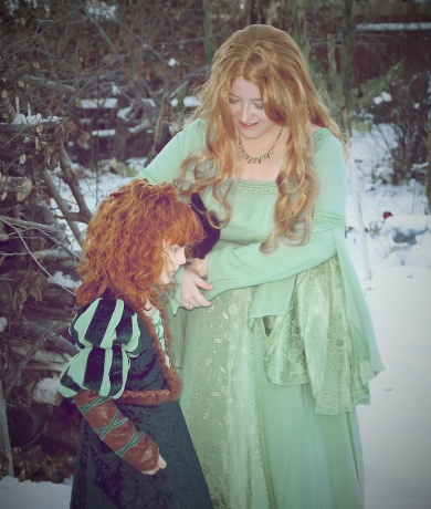 Merida and Queen Elinor, I love this photograph.