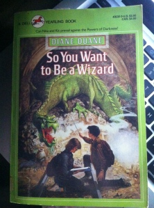 The cover of my twenty year old copy of So You Want to Be a Wizard.