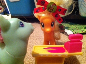 Apple Jack selling Minty something special