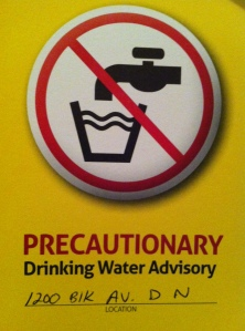 precautionary drinking water advisory