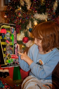 Lily-Ann, after two years of begging, finally got her first Monster High doll.