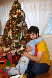 Awwww...  big hugs for Daddy.