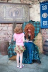 Lily-Ann was over the moon to meet Merida - and she told her so.