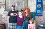 Okay, yeah... I'm sharing six pictures of us with Merida.  We love her!  LOL