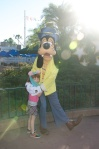 Goofy was really sweet with Lily-Ann.