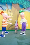 YAY  Phineas and Ferb!  We love Phineas and Ferb... yes, I have pictures with them too.  LOL