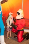 She was head over heals for Mr. Incredible after that kiss.  LOL