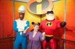 Lily-Ann insisted I have a picture with Frozone and Mr. Incredible too.  I don't really have a super hero pose in my back pocket - but I did my best.