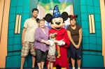 I wasn't sure we'd ever get her to stop hugging Mickey Mouse.  She was just sooo in awe of him.