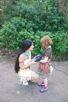 Pocahontas wanted to know if the girl's bag was for raccoon treats.