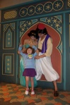 We had to try THREE times to get in to see Jasmine and Aladdin.  They were always busy!