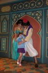 It was worth it though.  Aladdin was silly with Kid Kid, tickled her, and made her laugh.  It was nice.