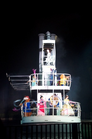 Fantasmic is one of the only places in all of Disney World to catch a glimpse of certain characters.