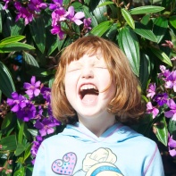 The kid LOVED these purple flowers.
