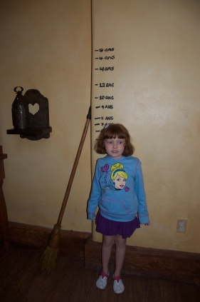 At only five and a half the girl is apparently much taller than Belle was at the same age. LOL