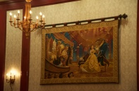 One of the tapestries in the dining rooms of the Beast's castle.