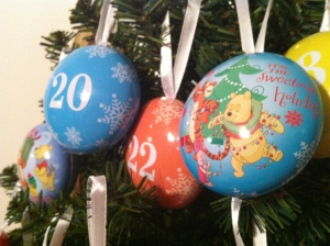 Disney ornaments from Target